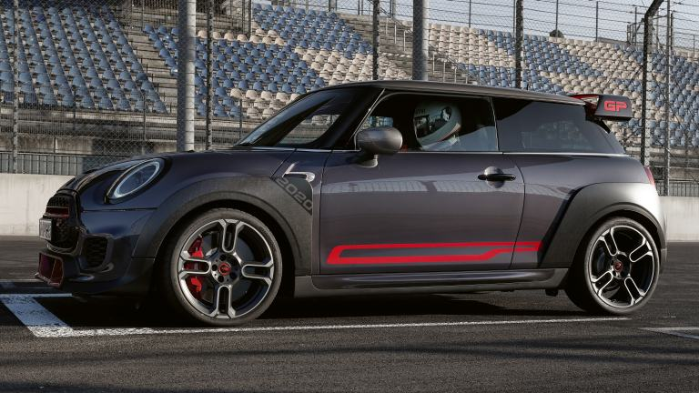 MINI John Cooper Works GP – boční polepy – Chili Red